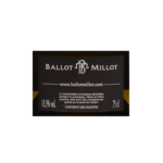 Ballo Millot Meursault Genevrieres 2015 etiquette dos
