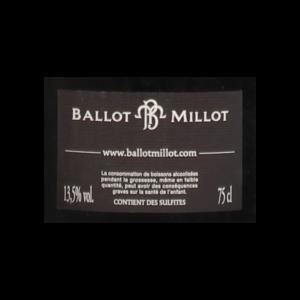 Ballot Millot Pommard Charmots 2015 etiquette dos