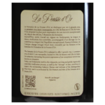 Chambolle Domaine de la Pousse 2016 etiquette dos