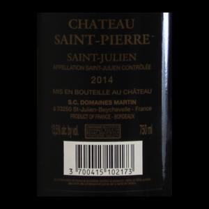 Chateau Saint-Pierre Saint-Julien etiquette dos