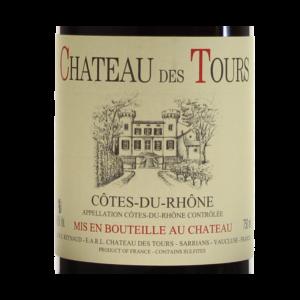 Chateau des Tours 2013 etiquette