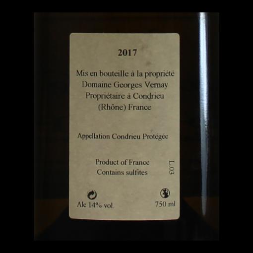 Condrieu coteau de Vernon Domaine Georges Vernay etiquette dos