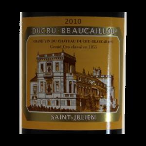 Ducru-Beaucaillou Saint-Julien 2010 etiquette