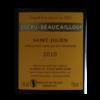 Ducru BeaucaillouSaint Julienetiquettedos