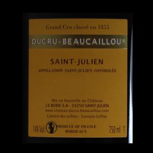 Ducru-Beaucaillou Saint-Julien Millesime etiquette dos