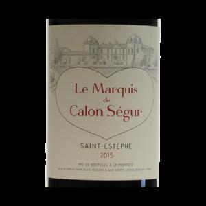 Le Marquis de Calon Segur Saint-Estephe 2015 etiquette
