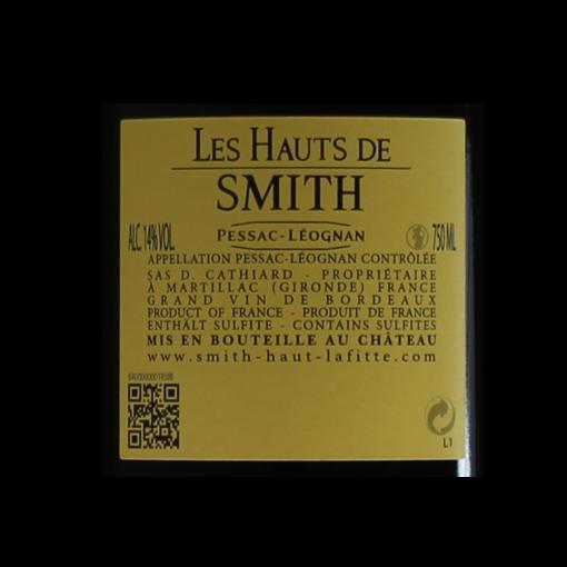 Les Hauts de Smith 2015 etiquette dos