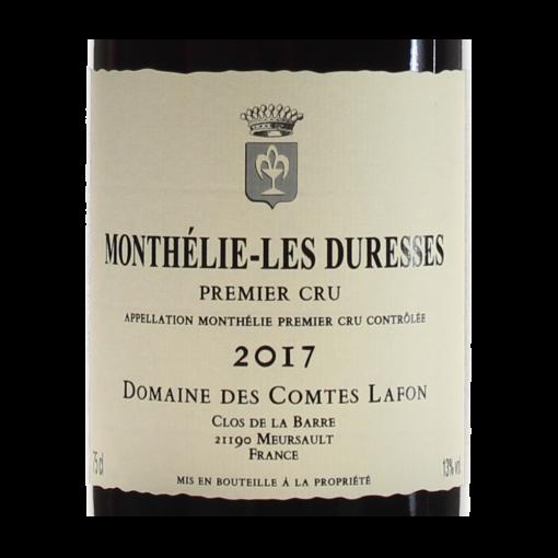 Monthelie Les Duresses Domaine des Comtes Lafon 2017 etiquette
