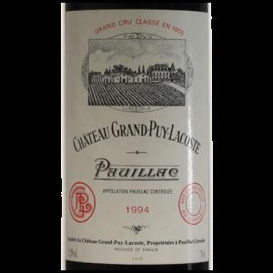 Pauillac Chateau Grand Puy Lacoste 1994 etiquette