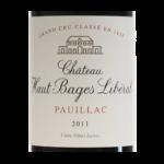 Pauillac Chateau Haut Bages Liberal 2011 etiquette