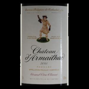 Pauillac Chateau d'Armailhac 2015 etiquette