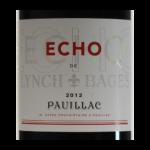 Pauillac Echo 2012 etiquette