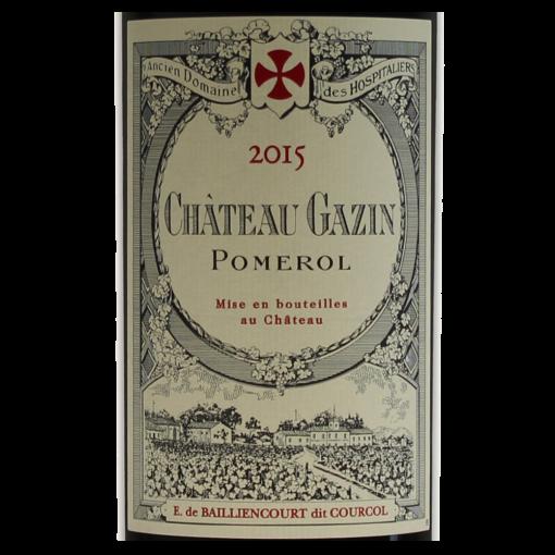 Pomerol Chateau Gazin 2015 etiquette