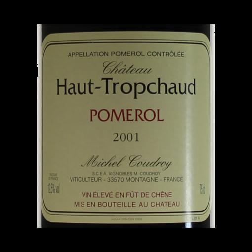 Pomerol Chateau Haut-Tropchaud 2001 etiquette