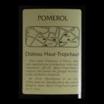 Pomerol Chateau Haut-Tropchaud 2001 etiquette dos