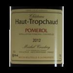 Pomerol Chateau Haut-Tropchaud 2012 etiquette