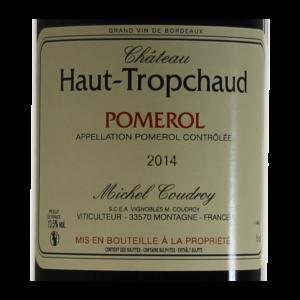 Pomerol Chateau Haut-Tropchaud 2014 etiquette