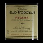 Pomerol Chateau Haut-Tropchaud 2016 etiquette