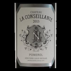 Pomerol Chateau La Conseillante 2015 etiquette