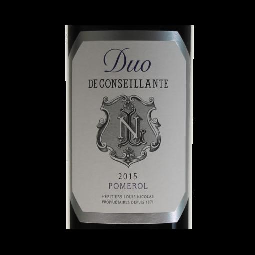 Pomerol Duo Deconseillante 2015 etiquette