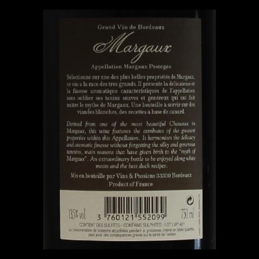 Terroir de Margaux 2014 etiquette dos