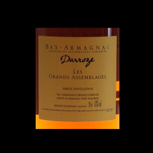 Bas Armagnac Darroze  etiquette dos