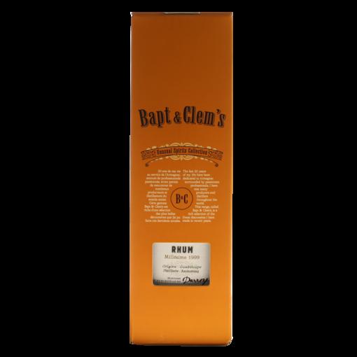 Rhum BaptClems  bouteille boite