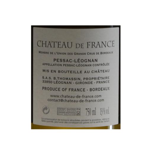 Chateau-De-France-Pessac-Leognan-Blanc-2017-etiquette-2