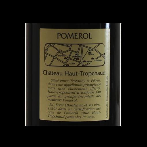 Pomerol-Chateau-Haut-tropchaud-2013-etiquette